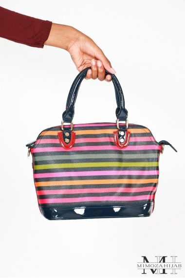 Bag with multicolored stripes