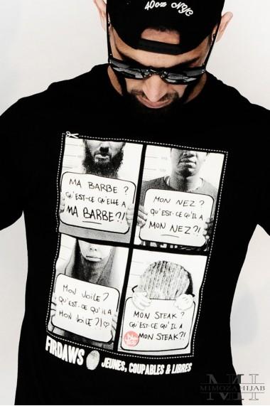"""T-shirt """"Qu'est-ce qui"""" Firdaws"""