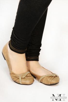 Shoe Ballerina Taupe Twist