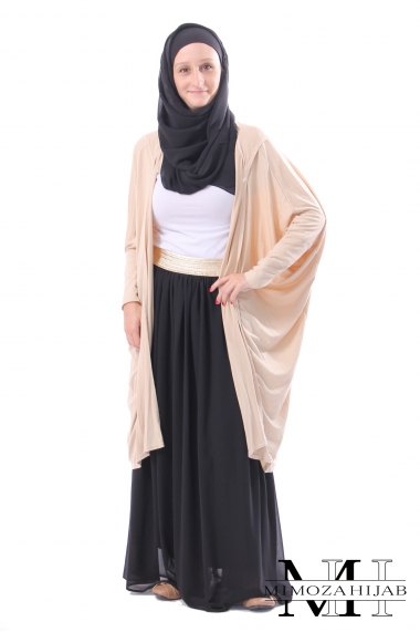 Hooded Cardigan butterfly short