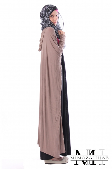 Maxi long vest butterfly with hood