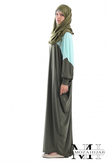 Two-toned butterfly dress for Muslima