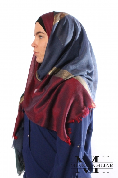 Spangled Three-colored hijab