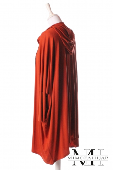 Hooded Cardigan butterfly short for muslim woman