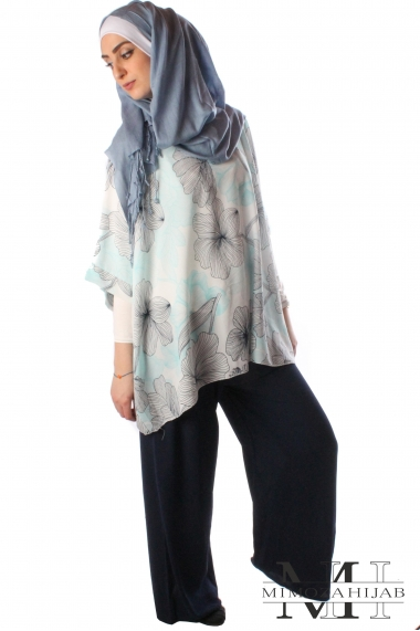 Butterfly tunic with printed design