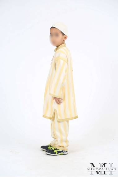 Moroccan traditional outfit gold