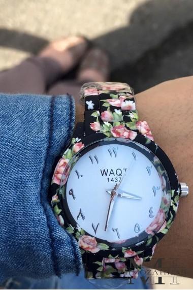 Montre Fleurie WAQT 1437 chiffres arabes